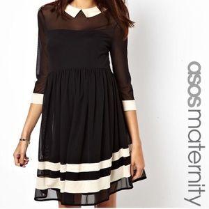 ASOS Maternity Peter Pan Style Collar Dress